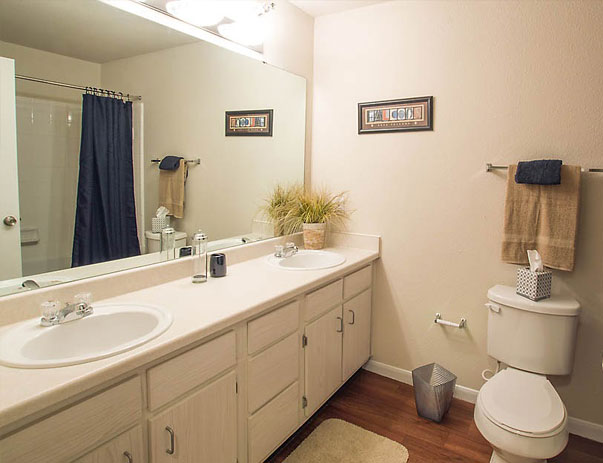 Private Bathroom at The Edge Apartments