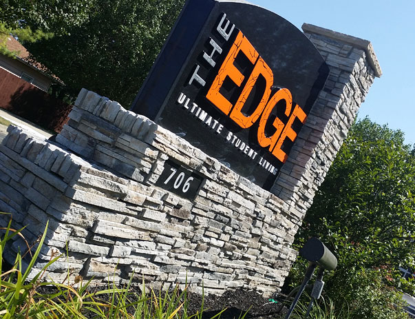 The Edge Front Signage
